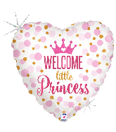 "18"" Holographic Glitter Baby Princess Foil Balloon"