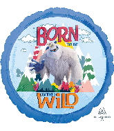 "18"" Small Foot Born to Be Wild Foil Balloon"