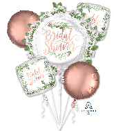 Bouquet Love & Leaves Bridal Shower Foil Balloon