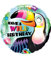 "18"" Round Have a Wild Birthday Foil Balloon"