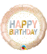 "18"" Round Birthday Metallic Dots Foil Balloon"