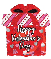 "12"" Valentine's Day Gift Box Shape Foil Balloon"