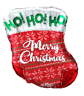 "18"" Chistmas Sox Foil Balloon"