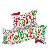 "36"" Happy Holidays Banner Foil Balloon"