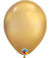 "11"" Chrome Gold 25 Count Qualatex Latex Balloons"