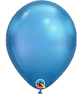 "11"" Chrome Blue 25 Count Qualatex Latex Balloons"