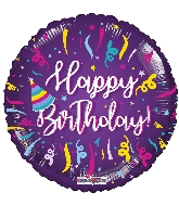 "18"" Bday Streamers Foil Balloon"