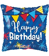 "18"" Birthday Pennants Foil Balloon"