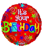 "18"" It&#39s You Birthday Red Foil Balloon"