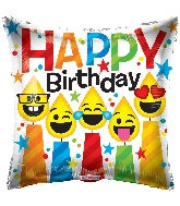 "18"" Birthday Smiling Candles Foil Balloon"