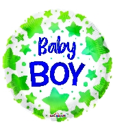 "18"" Baby Boy Stars Foil Balloon"