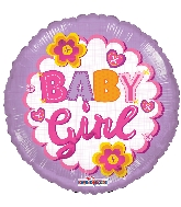 "18"" Baby Girl Quilt Foil Balloon"