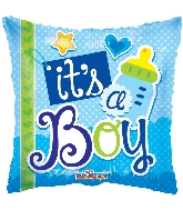"18"" It&#39s A Boy Elements Foil Balloon"