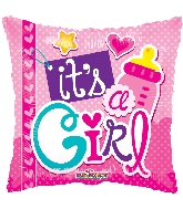 "18"" It&#39s A Girl Elements Foil Balloon"