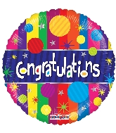 "18"" Congratulations Dots Foil Balloon"