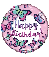"18"" Birthday Butterflies Foil Balloon"