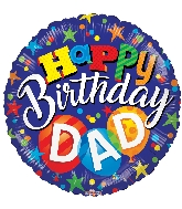 "18"" Bday Dad Foil Balloon"