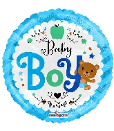 "18"" Baby Boy Bear Foil Balloon"