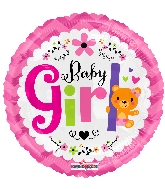 "18"" Baby Girl Bear Foil Balloon"