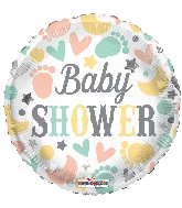 "18"" Baby Shower Elements Foil Balloon"