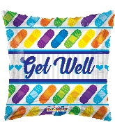 "18"" Get Well Bandages Foil Balloon"