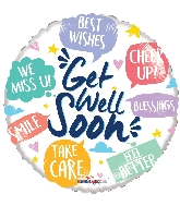 "18"" Get Well Phrases Foil Balloon"