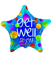 "18"" Get Well Star Foil Balloon"