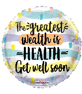 "18"" Wealth Is Health Foil Balloon"