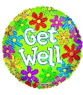"18"" Get Well Flowers Foil Balloon"