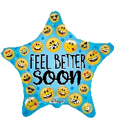 "18"" Feel Better Many Smilies Foil Balloon"