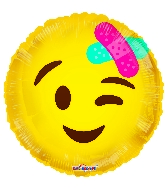 "18"" Smiley With Bandage Foil Balloon"