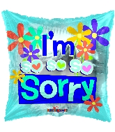 "18"" I&#39m So So Sorry Foil Balloon"