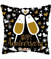 "18"" Anniversary Glasses Foil Balloon"