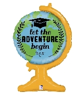 "33"" Shape Adventure Grad Foil Balloon"