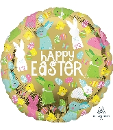 "18"" Happy Easter Gold Foil Balloon"