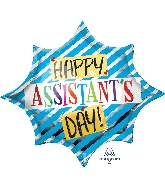"35"" Assistant's Day Blue SuperShape™ XL® Foil Balloon"