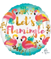 "18"" Let&#39s Flamingle Foil Balloon"