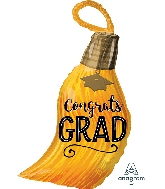 "28"" Congrats Grad Tassel Junior Shape XL® Foil Balloon"