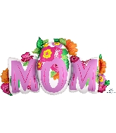 "36"" Mom Flowers SuperShape™ XL® Foil Balloon"