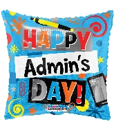 "18"" Admin &#39s Day Elements Foil Balloon"