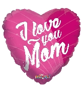 "9"" Airfill Only I Love You Mom Pink GelliBean Foil Balloon"