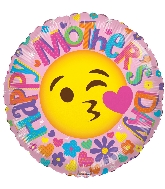"18"" Happy Mother&#39s Day Smiley Face Foil Balloon"