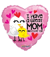 "18"" I Have A Great Mom GelliBean Foil Balloon"