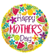 "18"" Happy Mother&#39s Day Citric GelliBean Foil Balloon"