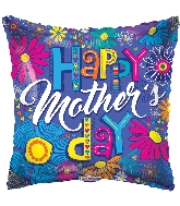 "18"" Happy Mother's Day Sketchy Letters Foil Balloon"