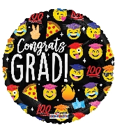 "18"" Grad Emoticons Foil Balloon"