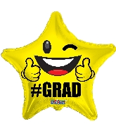 "18"" Grad Star Foil Balloon"