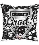 "18"" Congrats Grad Shield Foil Balloon"