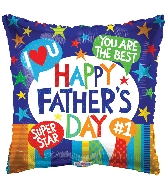 "9"" Airfill Only Father&#39s Day Messages Foil Balloon"