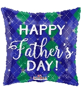 "18"" Father&#39s Day Diamond Pattern Foil Balloon"